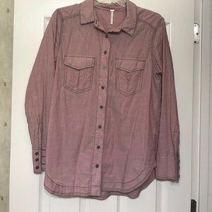 Free People chambray shirt